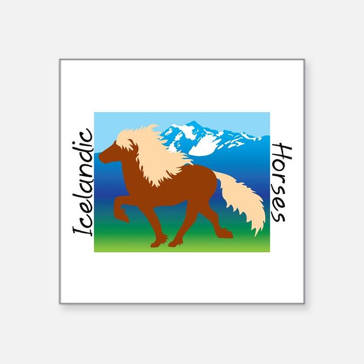 Icelandic horse scene Sticker