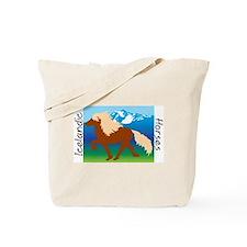Icelandic horse scene Tote Bag