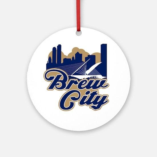 Brew City Ornament (Round)
