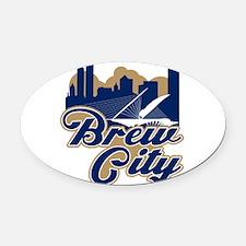 Brew City Oval Car Magnet