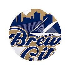 "Brew City 3.5"" Button"