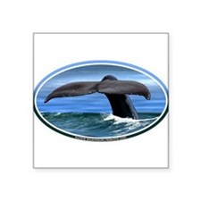 Whale Fluke / Tail car boat Seadoo Oval Sticker