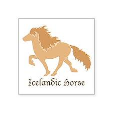 Dun color Icelandic horse Sticker