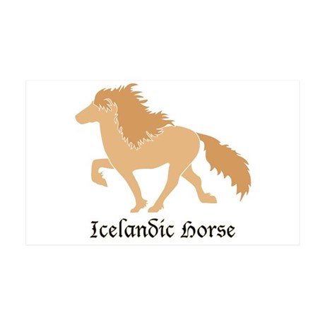 35 x 21 Dun color Icelandic horse Wall Decal