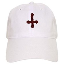 Inverted Cross And Red Roses Baseball Cap