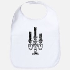 Gothic Skull Candelabra Bib