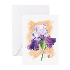 Iris Sketch Greeting Cards (Pk of 10)