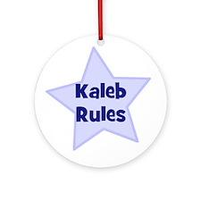 Kaleb Rules Ornament (Round)