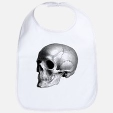 Skull Illustration Bib