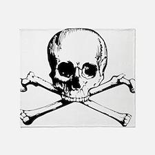 Classic Skull And Crossbones Throw Blanket