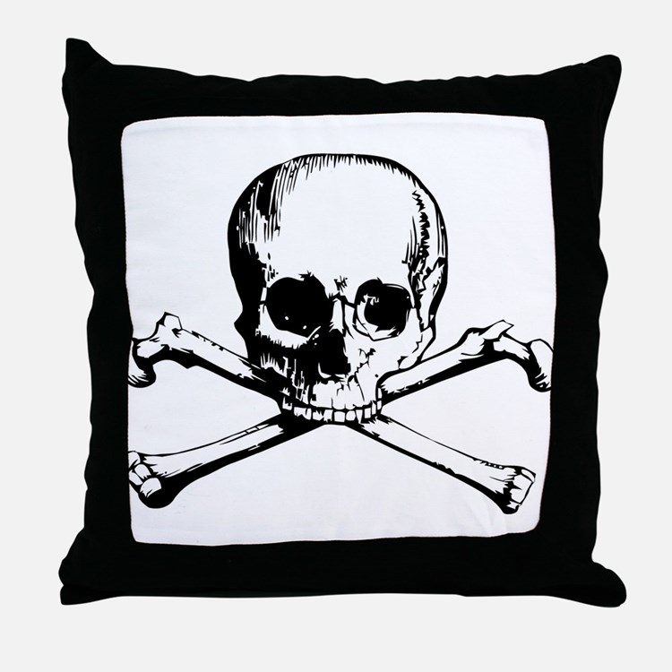Classic Skull And Crossbones Throw Pillow