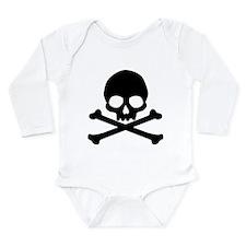 Simple Skull And Crossbones Long Sleeve Infant Bod