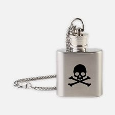 Simple Skull And Crossbones Flask Necklace
