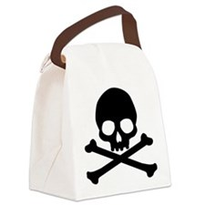 Simple Skull And Crossbones Canvas Lunch Bag