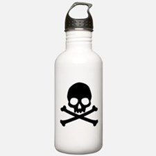 Simple Skull And Crossbones Water Bottle
