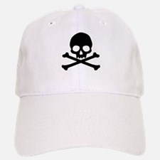 Simple Skull And Crossbones Baseball Baseball Cap