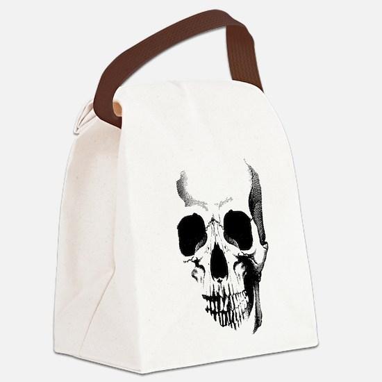 Skull Face Canvas Lunch Bag