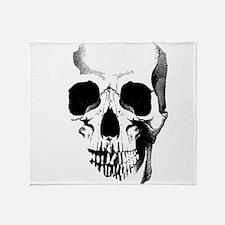 Skull Face Throw Blanket