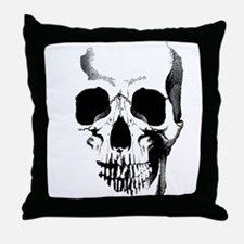 Skull Face Throw Pillow