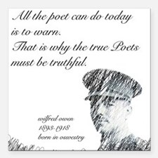 Wilfred Owen - All the poet can do today Square Ca