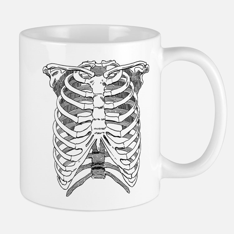 Ribcage Illustration Mug