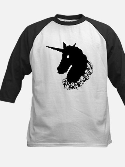 Gothic Unicorn Kids Baseball Jersey