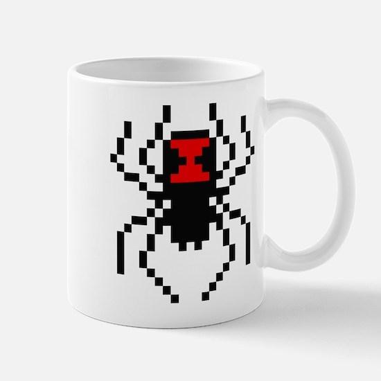 Pixel Black Widow Spider Mug