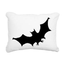 Bat Silhouette Rectangular Canvas Pillow