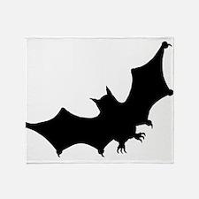 Bat Silhouette Throw Blanket