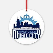 Music City Ornament (Round)