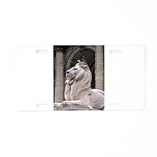 NY Public Library Lion: Fortitude Aluminum License