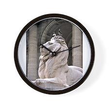 NY Public Library Lion: Fortitude Wall Clock