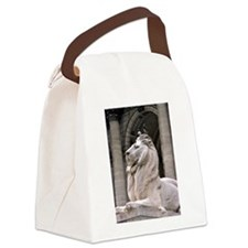 NY Public Library Lion: Fortitude Canvas Lunch Bag
