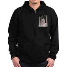 NY Public Library Lion: Fortitude Zip Hoodie