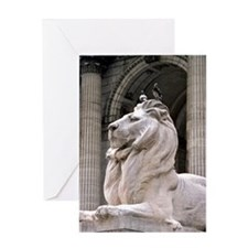 NY Public Library Lion: Fortitude Greeting Card