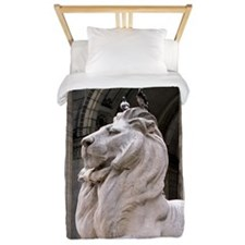 NY Public Library Lion: Fortitude Twin Duvet