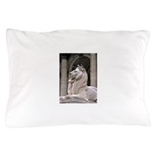 NY Public Library Lion: Fortitude Pillow Case