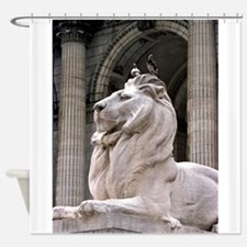 NY Public Library Lion: Fortitude Shower Curtain