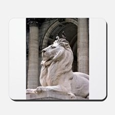 NY Public Library Lion: Fortitude Mousepad