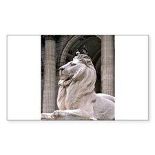NY Public Library Lion: Fortitude Decal