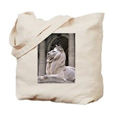 NY Public Library Lion: Fortitude Tote Bag