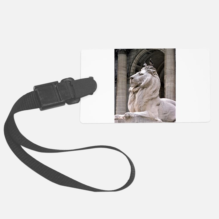 NY Public Library Lion: Fortitude Luggage Tag