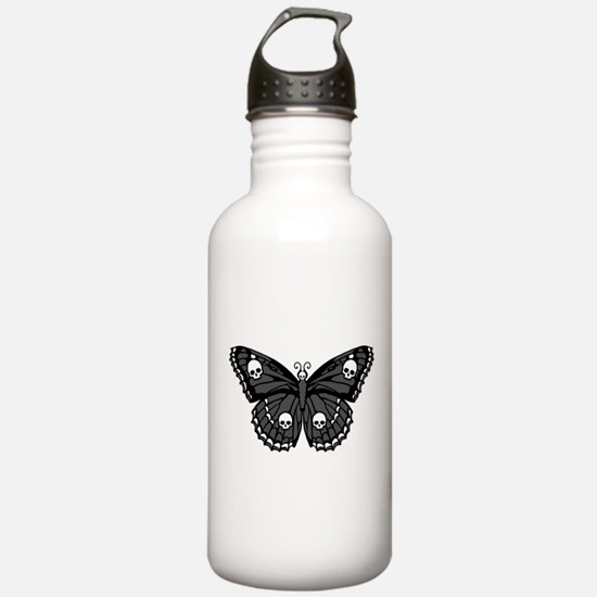 Gothic Skull Butterfly Water Bottle
