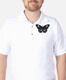 Gothic Skull Butterfly T-Shirt