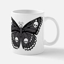 Gothic Skull Butterfly Mug