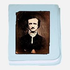 Vintage Poe Portrait baby blanket