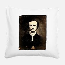 Vintage Poe Portrait Square Canvas Pillow