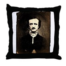Vintage Poe Portrait Throw Pillow
