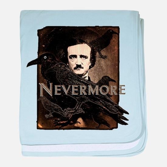 Poe Raven Nevermore baby blanket