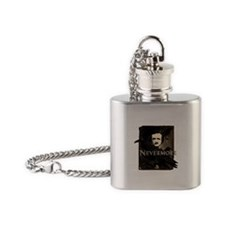 Poe Raven Nevermore Flask Necklace